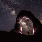 An image of galaxy lights