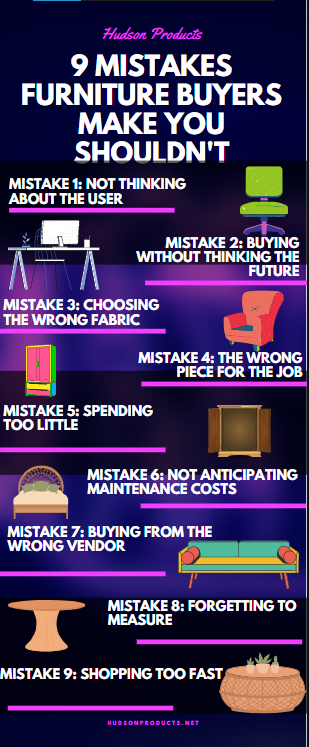 Mistakes furniture buyers make that you should not make as a buyer
