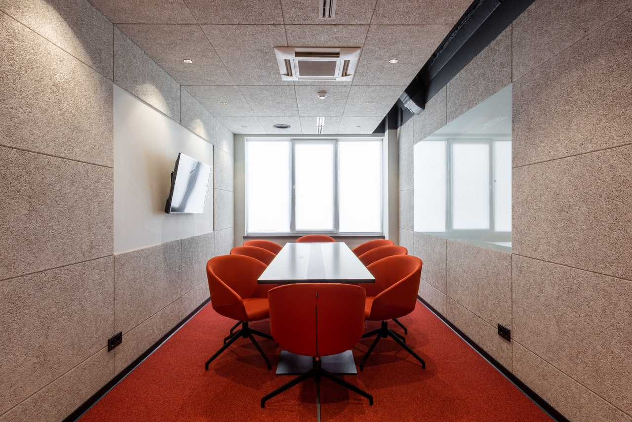 Furniture in a conference room