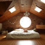 A bed in an upstairs bedroom
